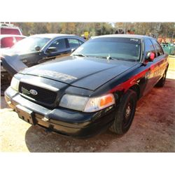 2011 FORD CROWN VICTORIA, VIN/SN:2FABP7BVXBX124132 - GAS ENGINE, A/T (DOES NOT OPERATE) (COUNTY OWNE