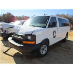 2017 CHEVROLET EXPRESS G250 PASSANGER VAN, VIN/SN:1GAWGEFF4H1319480 - GAS ENGINE, A/T, WRECKED (DOES