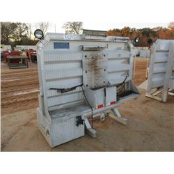 ALUMINUM HEADACHE RACK W/TOOL BOX FIT TRUCK TRACTOR (A-2)