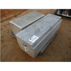 (2) FLOOR MOUNTED ALUMINUM TOOL BOX (A-1)