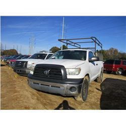 2008 TOYOTA TUNDRA PICK UP, VIN/SN:5TFLU52198X006953 - GAS ENGINE, A/T, TOOL BOXES, RACK, ODOMETER R