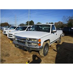 1994 CHEVROLET 2500 PICKUP, VIN/SN:1GCFK24S2RE231770 -4X4, DIESEL ENGINE, A/T ODOMETER READING 121,6
