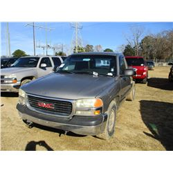 2001 GMC 1500 SL PICK UP, VIN/SN:1GTEC14W11Z131534 - GAS ENGINE, A/T, ODOMETER READING 227,975 MILES