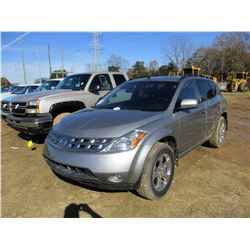 2004 NISSAN MURANO VIN/SN:JN8AZ08T64W208741 - GAS ENGINE, A/T, ODOMETER READING 121,315 MILES