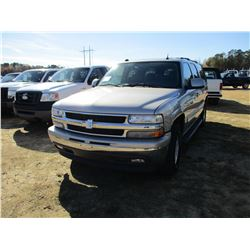 2005 CHEVROLET SUBURBAN VIN/SN:3GNEC16ZX5G291125 - GAS ENGINE, A/T, ODOMETER READING 160,155 MILES