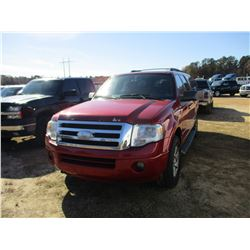 2009 FORD EXPEDITION VIN/SN:1FMFK16589LA10280 - 4X4, GAS ENGINE, A/T, ODOMETER READING 201,251 MILES