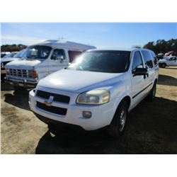 2006 CHEVROLET UPLANDER, VIN/SN:1GBDV13L36D139897 - GAS ENGINE, A/T, ODOMETER READING 225,647 MILES