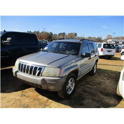 1999 JEEP GRAND CHEROKEE VIN/SN:1J4GW58S1XC542064 - 4X4, GAS ENGINE, A/T, ODOMETER READING 221,320 M