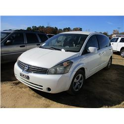 2008 NISSAN QUEST VIN/SN:5N1BV28U28N117098 - GAS ENGINE, A/T