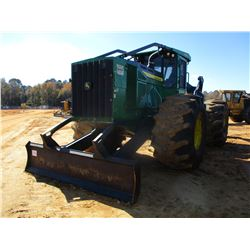 2016 JOHN DEERE 848L SKIDDER, VIN/SN:673621 - DUAL ARCH, WINCH, CAT, AC, METER READING 5,594 HOURS,