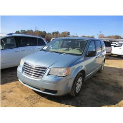 2010 CHRYSLER MINI VAN, VIN/SN:2A4RR4DE6AR186364 - GAS, A/T, ODOMETER READING 270,829 MILES