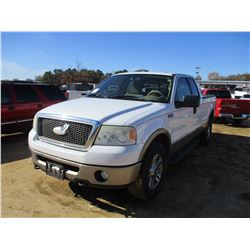 2006 FORD F150 PICKUP, VIN/SN:1FTPX14536NA49856 - 4X4, EXT CAB, GAS ENGINE, A/T, ODOMETER READING 43