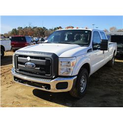 2013 FORD F250 PICKUP, VIN/SN:1FT7W2A62DEA83273 - CREW CAB, GAS ENGINE, A/T, ODOMETER READING 194,37