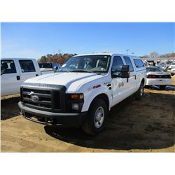 2009 FORD F350 PICKUP, VIN/SN:1FTWW30579EA15133 - CREW CAB, GAS ENGINE, A/T, ODOMETER READING 265,68