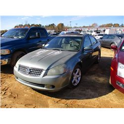2005 NISSAN ALTIMA VIN/SN:1N4BL11D65C370923 - V6 GAS, A/T, ODOMETER READING 229,340 MILES