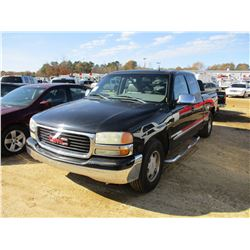 2001 GMC 1500 SLT PICKUP, VIN/SN:2GTEC19TX11313403 - EXT CAB, SLT LUXURY PACKAGE, GAS ENGINE, A/T, O