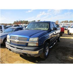 2004 CHEVROLET 1500 PICK UP, VIN/SN:1GCEK19T34E270237 - GAS, A/T, ODOMETER READING 252,740 MILES