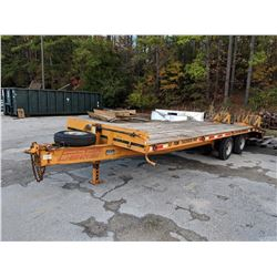 1996 ECONOLINE BACKHOE PRO TAG TRAILER, VIN/SN:42EDPHE41T1000635 - T/A, PINTLE HITCH, DOVETAIL, RAMP