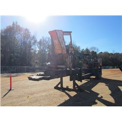 PRENTICE 280 LOG LOADER, VIN/SN:P57474 - CTR DELIMBER, CAB, MTD ON T/A TRAILER, METER READING 19,001