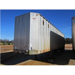 2000 ITI IWS-42 CHIP TRAILER, VIN/SN:1Z92E4222YT029425 - T/A, 42' LENGTH, CLOSED TOP, HALF GATE