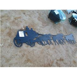METAL STAGECOACH SIGN (C-6)