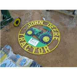 JOHN DEERE METAL TRACTOR SIGN (C-6)