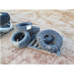 (6) MISC SIZE TIRES (C-7)