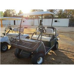 CLUB CAR GOLF CART, - ELECTRIC, CANOPY, REAR SEAT (C-8)