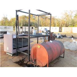 WASTE OIL HEATER W/TANK & STAND (C-8)