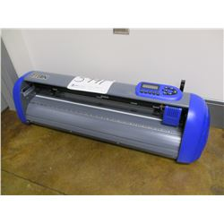 "TITAN 28"" VINYL CUTTER WITH CLAM SHELL 15"" X 15"" HEAT PRESS, DIMENSIONS: 38"" X 13"" X 17"" WEIGHT: 60L"