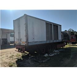 1990 CAT SR4B TRAILER-MOUNTED GENERATOR, - 480 VOLT, CAT DIESEL ENGINE, PONY MOTOR, FUEL TANKS, ELEC