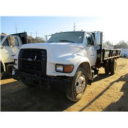 1996 FORD FLATBED DUMP, VIN/SN:1FDNF80C4TVA17626 - GVW 24,500 LB, FORD DIESEL ENGINE, 5/2 SPEED TRAN