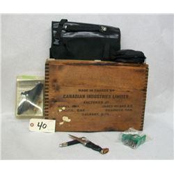 BOX LOT TNT BOX, SCOPE MOUNTS AND COLT GRIPS
