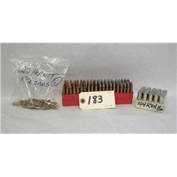 .22 K HORNET AND .44 MAG AMMO LOT