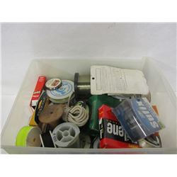 LARGE LOT OF FISHING LINE AND CABLING