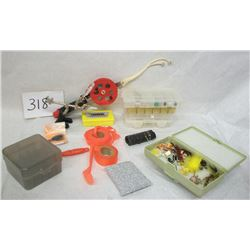FISHING LURES, FLY LURES LOT