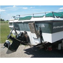 """18' 6"""" SILVERLINE BOAT MOTOR AND TRAILER PACKAGE"""