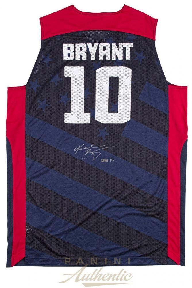 Kobe Bryant Signed Team USA Jersey