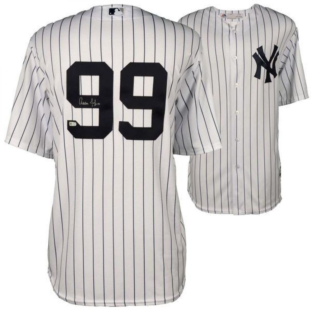 brand new c8b6a 40bd9 Aaron Judge Signed Yankees Jersey (Fanatics)