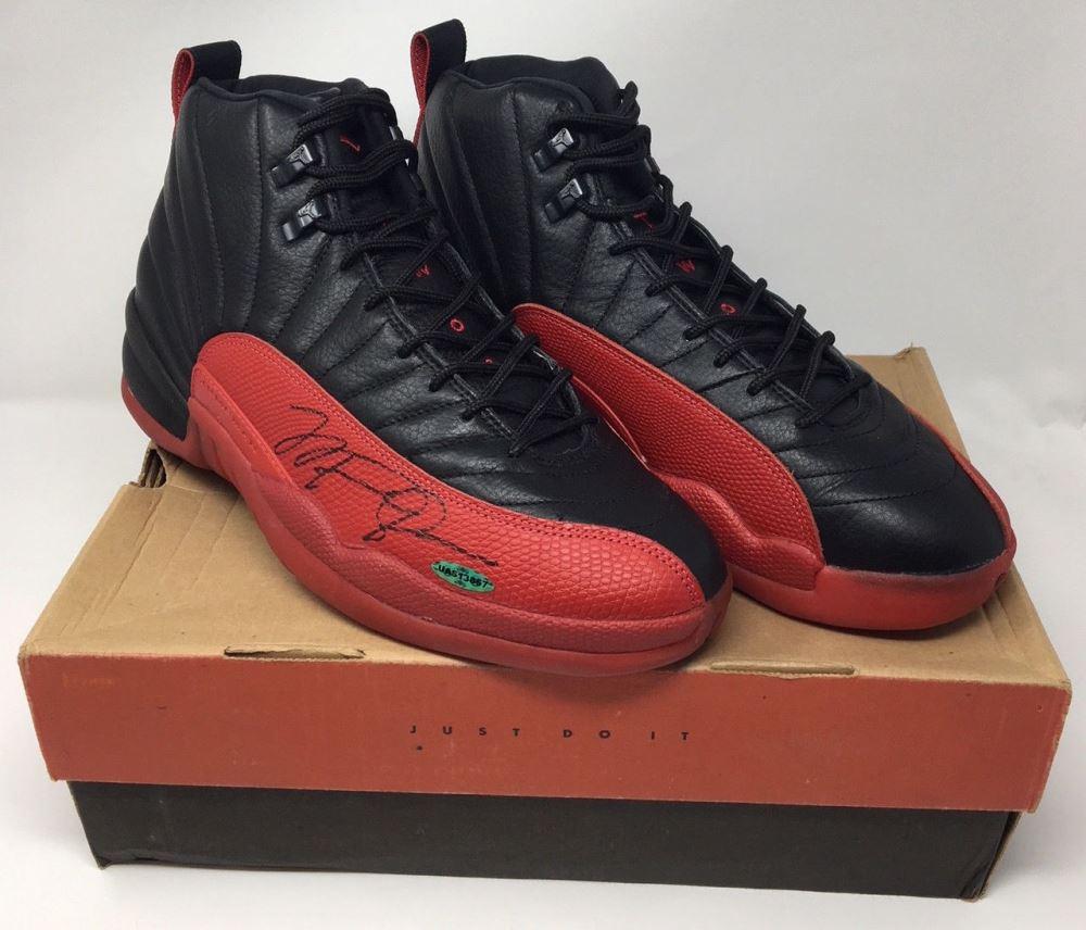huge discount 41891 34924 Image 1   Michael Jordan Signed Original 1997 Nike Air Jordan 12 Flu  Basketball Shoes (