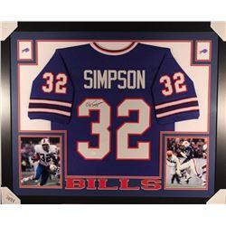 new style 9a258 95d66 O. J. Simpson Signed Bills 35x43 Custom Framed Jersey (JSA ...