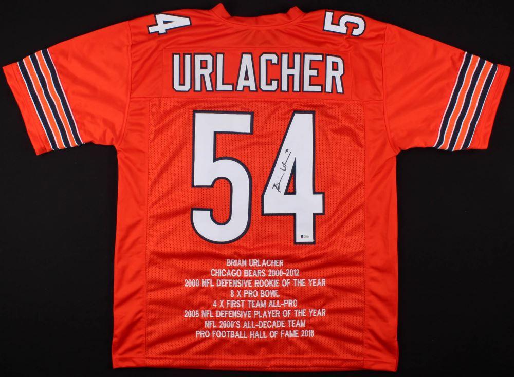 208150518af Image 1 : Brian Urlacher Signed Bears Career Highlight Stat Jersey (Beckett  COA)