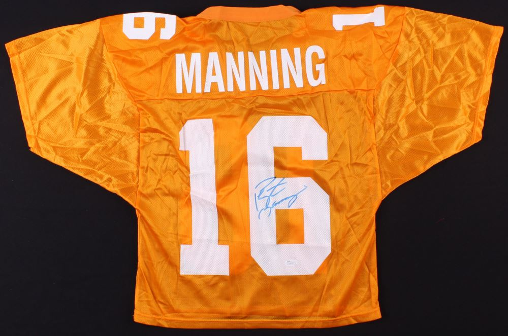 low priced 5b144 a476e Peyton Manning Signed Tennessee Volunteers Jersey (JSA ...
