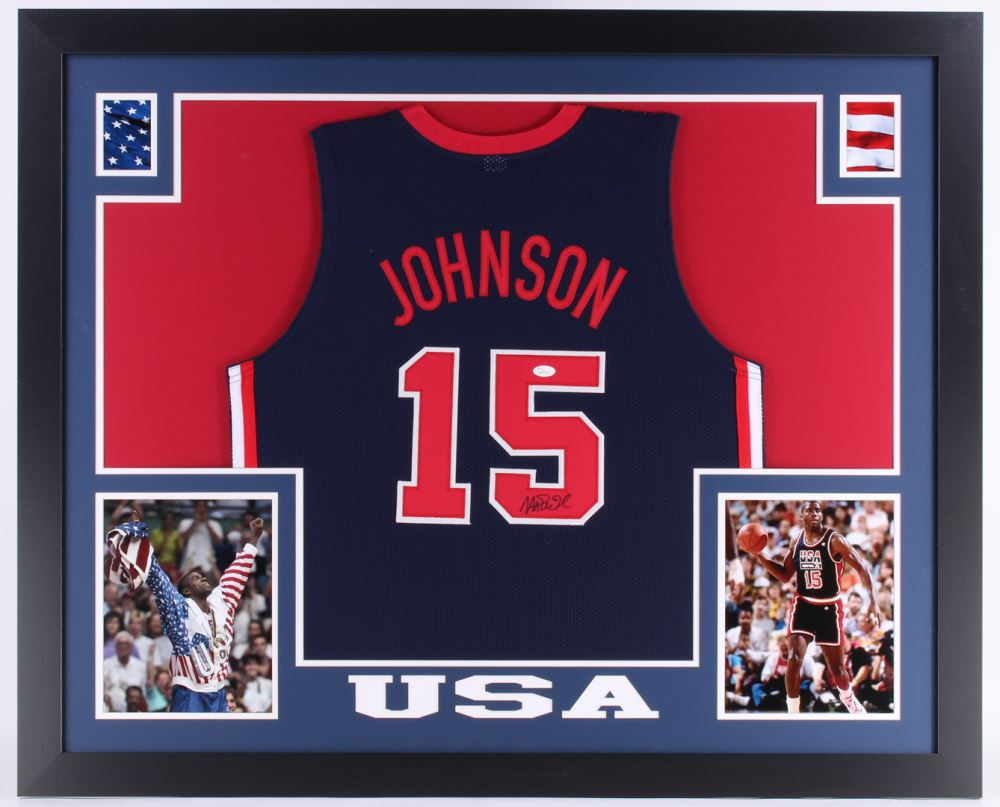 buy popular 820c3 a1314 Magic Johnson Signed USA