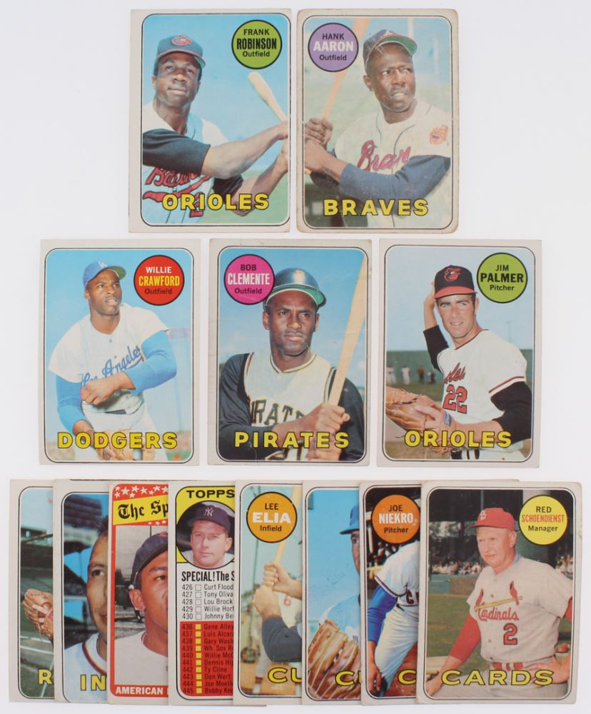 Lot Of 13 1969 Topps Baseball Cards With 412 Checklist 5