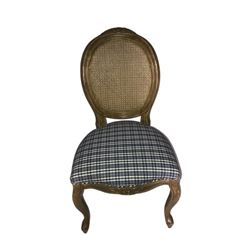 Blue Plaid Chair
