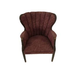 Burgundy Antique Chair