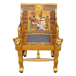 Egyptian Chair from King Tut Exhibition Premiere Event