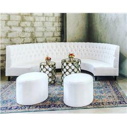 Roosevelt Half Round Sofa from Khloe Kardashian Party