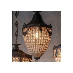 Kaley Acorn Ornate Hanging Light